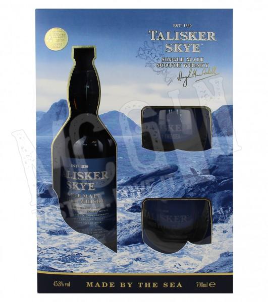 Talisker Skye Single Malt Scotch Whisky - 0.7L mit 2 Gläsern
