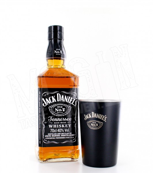 Jack Daniels No. 7 Tennessee mit Becher - 0.7L